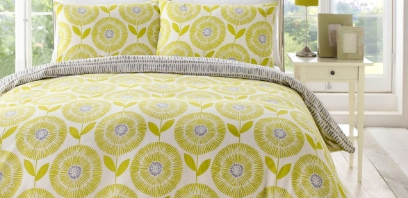 7765d076beb5 Ada Green –. A bright Scandinavian floral bedding.